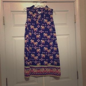Crown & Ivy elephant dress